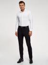 Рубашка приталенная с длинным рукавом oodji для мужчины (белый), 3B110037M/49719N/1000O - вид 6