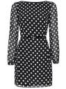 Платье из шифона с ремнем oodji #SECTION_NAME# (черный), 11900150-5/13632/2912D