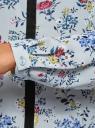 Блузка из струящейся ткани с контрастной отделкой oodji #SECTION_NAME# (серый), 11411059B/43414/2019F - вид 5