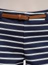 Шорты хлопковые с ремнем oodji для женщины (синий), 11800038/48229/7912S