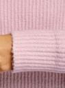 Свитер фактурный свободного силуэта oodji для женщины (розовый), 64405094/48783/1040M