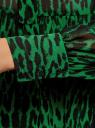 Платье шифоновое с асимметричным низом oodji #SECTION_NAME# (зеленый), 11913032/38375/6B29A - вид 5