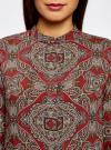 Блузка из вискозы принтованная с воротником-стойкой oodji #SECTION_NAME# (красный), 21411063-2/26346/4533E - вид 4