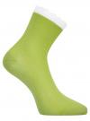 Комплект из трех пар хлопковых носков oodji для женщины (разноцветный), 57102806T3/48417/4