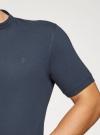 Поло из ткани пике с воротником-стойкой oodji #SECTION_NAME# (синий), 5B412008M/39570N/7900N - вид 5
