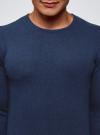 Джемпер базовый с круглым воротом oodji #SECTION_NAME# (синий), 4B112003M/34390N/7902M - вид 4