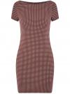 Платье трикотажное принтованное oodji #SECTION_NAME# (красный), 14001117-7/16564/4912G