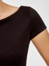 Платье из фактурной ткани с вырезом-лодочкой oodji #SECTION_NAME# (черный), 14001117-11B/45211/2900N - вид 5