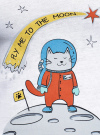 "Пижама с брюками и принтом ""кошка"" oodji #SECTION_NAME# (белый), 56001076-2/43112/1050P - вид 5"