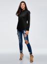 Рубашка базовая из хлопка oodji для женщины (черный), 13K03007B/26357/2900N