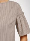 Платье из хлопка прямого силуэта oodji #SECTION_NAME# (коричневый), 11901159-1/47875/3710S - вид 5