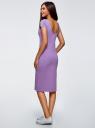 Платье миди с вырезом на спине oodji для женщины (фиолетовый), 24001104-5B/47420/8001N