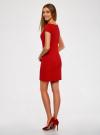 Платье из фактурной ткани с вырезом-лодочкой oodji #SECTION_NAME# (красный), 14001117-11B/45211/4500N - вид 3