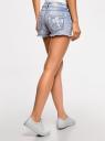 Шорты джинсовые с вышивкой oodji #SECTION_NAME# (синий), 12807074/45254/7070J - вид 3