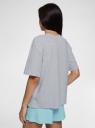 Пижама хлопковая с принтом oodji для женщины (серый), 56002243-1/47885N/2070Z
