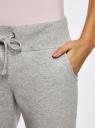 Комплект трикотажных брюк (2 пары) oodji #SECTION_NAME# (серый), 16700030-15T2/46173/2375N - вид 5