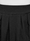 Юбка расклешенная с отделкой из искусственной кожи oodji #SECTION_NAME# (черный), 11600388-5/46966/2912O