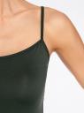 Майка базовая на бретелях oodji для женщины (зеленый), 14305023-3B/46866/6900N