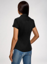 Рубашка хлопковая с коротким рукавом oodji #SECTION_NAME# (черный), 13K01004-1B/14885/2900N - вид 3