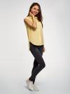 Топ хлопковый с рубашечным воротником oodji #SECTION_NAME# (желтый), 14901416-1B/12836/5000N - вид 6