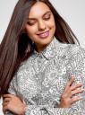 Блузка прямого силуэта с нагрудным карманом oodji #SECTION_NAME# (белый), 11411134-1B/48853/1229E - вид 4