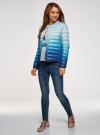 Куртка стеганая с круглым вырезом oodji для женщины (синий), 10204040-1B/42257/7075T - вид 6