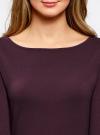 Платье трикотажное облегающего силуэта oodji #SECTION_NAME# (фиолетовый), 14001183B/46148/8801N - вид 4