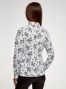 Блузка хлопковая с баской oodji #SECTION_NAME# (белый), 13K00001B/26357/1029F - вид 3