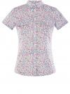 Рубашка хлопковая с нагрудными карманами oodji #SECTION_NAME# (слоновая кость), 11402084-3B/12836/1241F