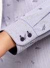 Рубашка принтованная с контрастной отделкой oodji #SECTION_NAME# (белый), 11403222-1/45202/1079O - вид 5