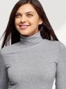 Водолазка базовая oodji для женщины (серый), 15E02001-8B/50802/2002M