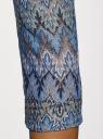 Футболка из ажурной ткани с рукавом 3/4 oodji #SECTION_NAME# (синий), 14801021-9B/45509/3766E - вид 5