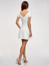 Платье приталенное с V-образным вырезом на спине oodji #SECTION_NAME# (белый), 14011034B/42588/1201N - вид 3