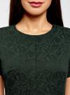 Платье жаккардовое с коротким рукавом oodji для женщины (зеленый), 11902161/45826/6900N - вид 4