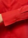 Рубашка базовая с одним карманом oodji для женщины (красный), 11406013/18693/4500N