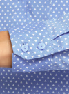 Рубашка базовая с нагрудными карманами oodji #SECTION_NAME# (синий), 11403222B/42468/7510G - вид 5