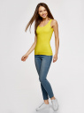 Майка базовая oodji для женщины (желтый), 14315002B/46154/5100N