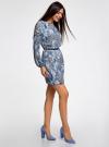 Платье из шифона с ремнем oodji #SECTION_NAME# (синий), 11900150-5M/13632/1270E - вид 6