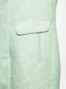 Пальто прямого силуэта из фактурной ткани oodji #SECTION_NAME# (бирюзовый), 10104043/43312/6500N - вид 5