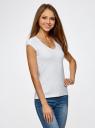Комплект из двух базовых футболок oodji для женщины (разноцветный), 14711002T2/46157/2910N