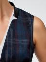 Жилет с поясом oodji для женщины (синий), 22301020-7/45943/7437C
