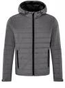 Куртка стеганая с капюшоном oodji #SECTION_NAME# (серый), 1B112009M/25278N/2300N