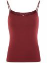 Топ трикотажный на тонких бретелях oodji для женщины (красный), 14305023-1B/46147/4902N
