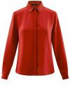 Блузка из струящейся ткани oodji #SECTION_NAME# (красный), 11400368-3/32823/4501N
