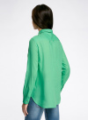 Рубашка хлопковая свободного силуэта oodji #SECTION_NAME# (зеленый), 11411101B/45561/6500N - вид 3