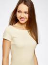 Платье из фактурной ткани с вырезом-лодочкой oodji #SECTION_NAME# (желтый), 14001117-11B/45211/5000N - вид 4