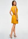 Платье вискозное без рукавов oodji #SECTION_NAME# (желтый), 11910073B/26346/5200N - вид 3