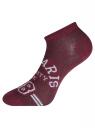 Комплект укороченных носков (6 пар) oodji для женщины (разноцветный), 57102604T6/48022/10