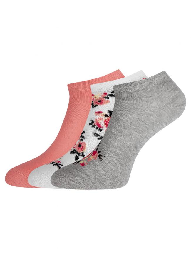 Комплект из трех пар укороченных носков oodji для женщины (разноцветный), 57102433T3/47469/43