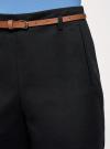 Шорты хлопковые с ремнем oodji #SECTION_NAME# (черный), 11800038/48229/2900N - вид 4